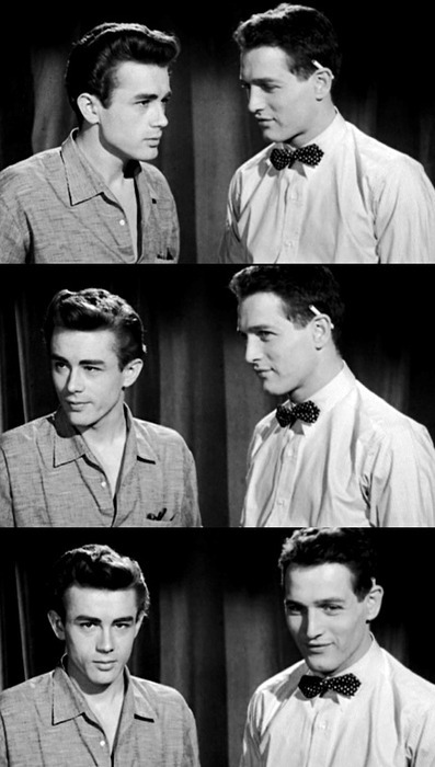 thiabrahao:mikeodonnell:James Dean and Paul Newmans Screen test for East of EdenAprendam com eles