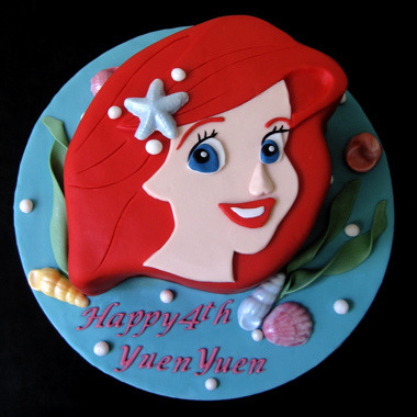 disneycakes:  Ariel (by J's Sweets)  wicked cute