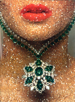 Had to reblog this for the incredible sparkling skin.  theyroaredvintage:  Guy Bourdin for Paris Vogue, 1969