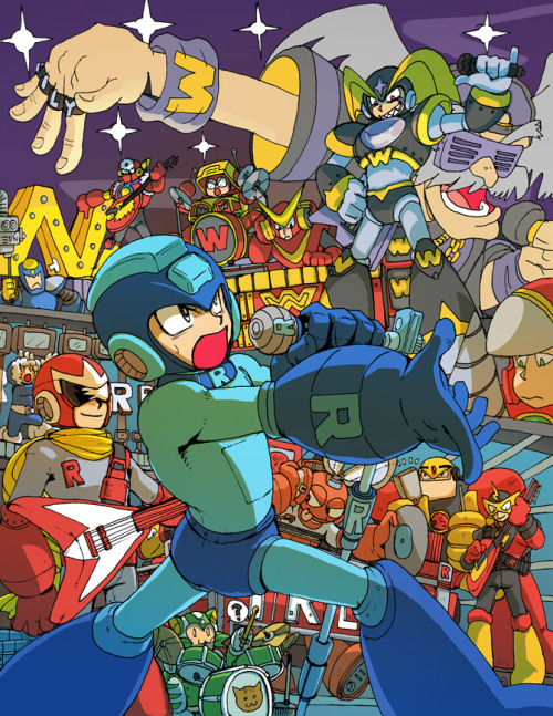 willyoumareepme:  Rockman Tribute by jinguj