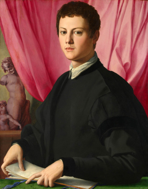 100artistsbook:  Bronzino, Portrait of a Young Man, oil.