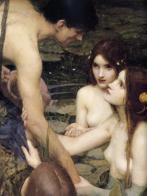 daiseas:  Hylas and the Nymphs, John William Waterhouse, 1896 (detail)