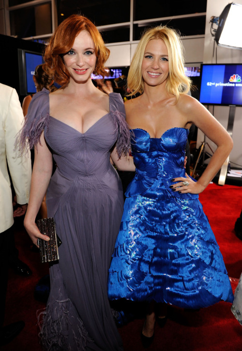 mmmmmmm twohotgirls:  Christina Hendricks & January Jones