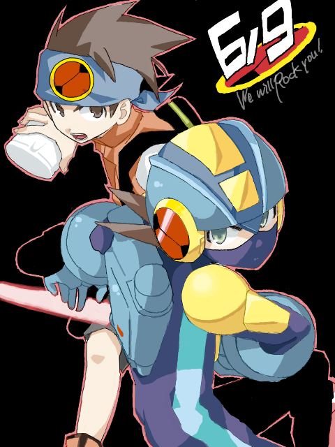 tikachiyo:  Because I'm just that furious of not finding enough Rockman.EXE fanarts. So let me spam by myself.