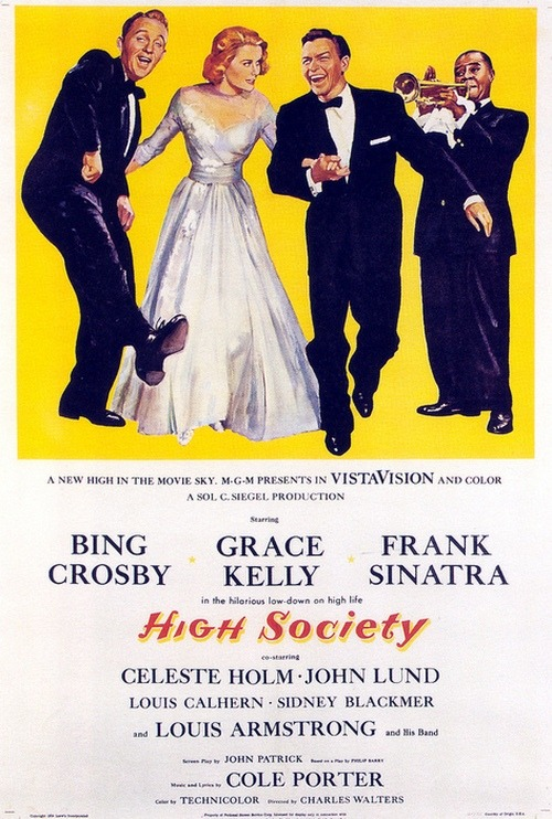 theniftyfifties:  'High Society' film poster, 1956.   one of my favorite movies!