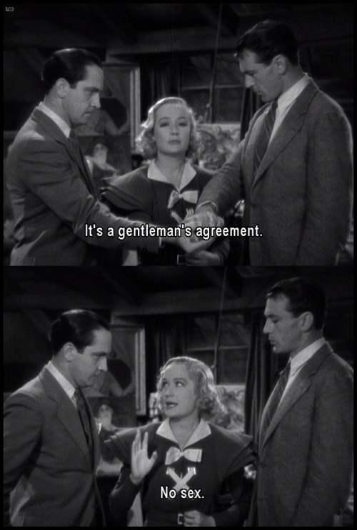 Fredric March, Miriam Hopkins and Gary Cooper Design For Living (1933)