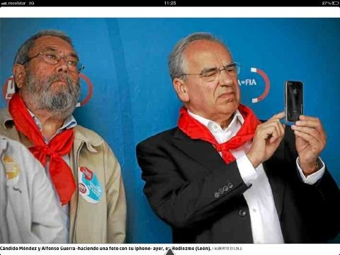 Spanish Communists enjoying the honey of capitalism (via @manelok)