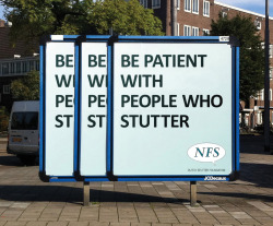 szymon:  NFS - Dutch Stutter Foundation billboard by Y&R Not Just Film, Amsterdam