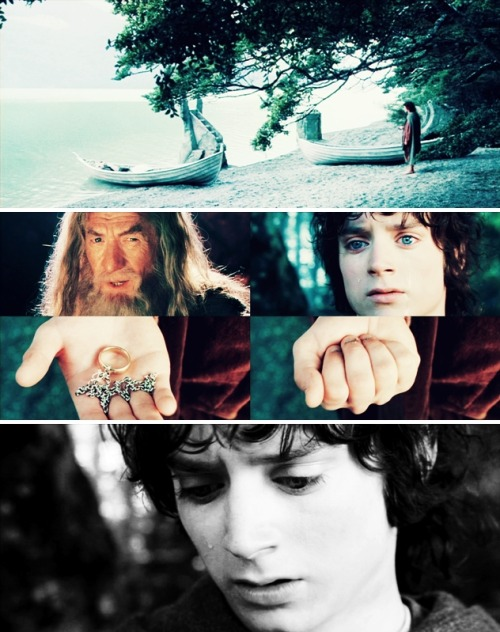 ohlydiane:  Frodo: I wish the ring had never come to me. I wish none of this had happened. Gandalf: So do all who live to see such times, but that is not for them to decide. All we have to decide is what to do with the time that is given to us. The Lord of the Rings: The Fellowship of the Ring, 2001
