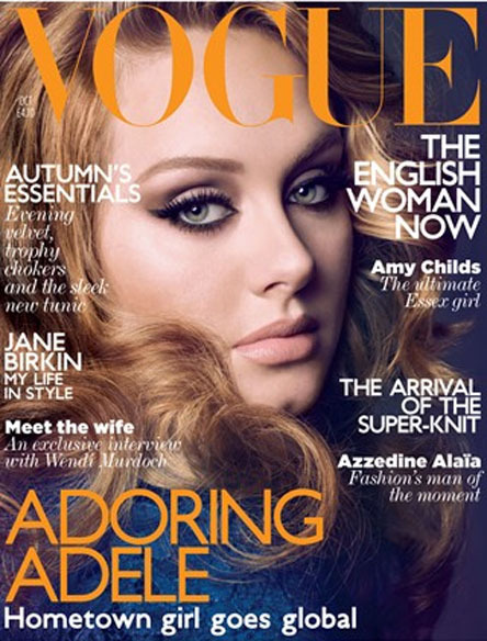 vogueandcoffee:  Adele covers the October issue of British Vogue  Omg she is gorgeous <3