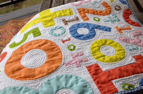 Numbers quilt by stitchindye on Flickr.