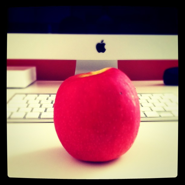Always eating apples (Taken with instagram)