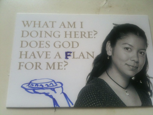 brilliantlens:  deadpoolcorps:  God always has a flan for you.  What the… LOOOOOL