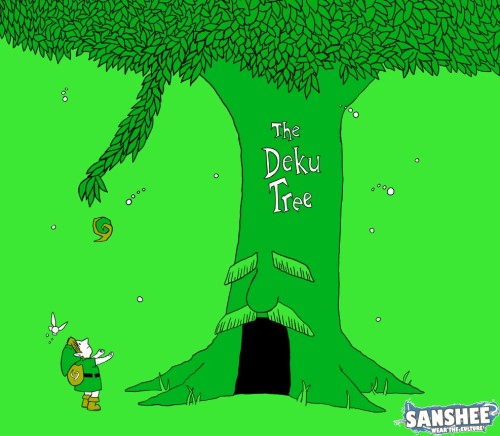 The old wise tree that just keeps on giving. Deku Tree by our friends at Sanshee.  This t-shirt will on sale soon at Sanshee. I'll update you when it comes out.