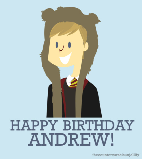 thecountercurseisunjellify:  happy birthday andrew!  THANKS! BTW, LOVE THIS <3