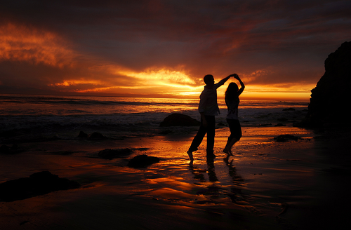 Goal: take my love on a beach sunset walk! then he can chase me and twirl me around and we can smile and kiss and be happy!!