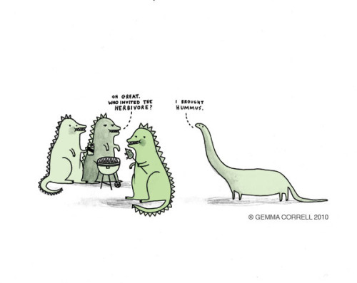 gemmacorrell:  who invited the herbivore?