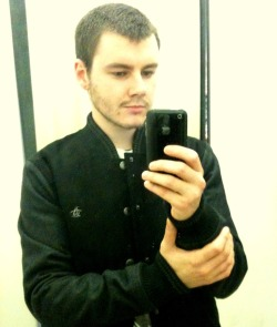 me, today. Don't girls usually take pictures of themselves in changing rooms? this doesn't count because I bought the jacket.