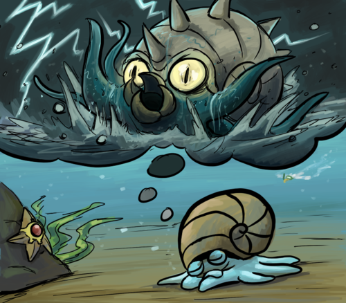 Little Omanyte dreaming of becoming an Omastar