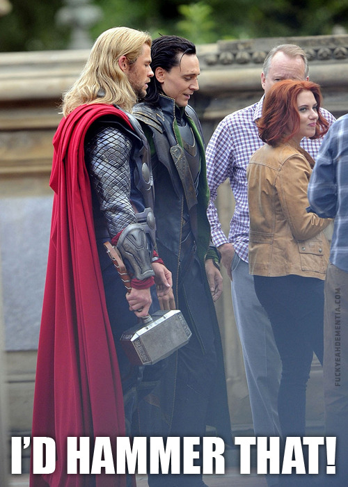theclearlydope:  Clearly this Monday was in dire need of some Thor humor. We are saved.   Where did they come from?