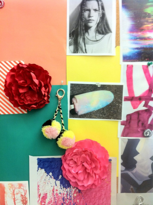 teenvogue:  Inside Teen Vogue: Wall of color. Photographed by Naomi Nevitt.