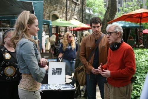 fuckyeahdirectors:  Woody Allen and Evan Rachel Wood on the set of Whatever Works.