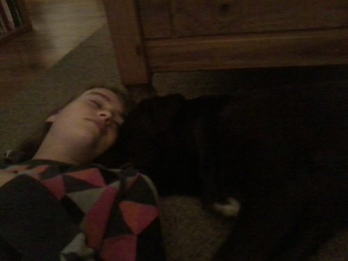 me and my dog, loebas, sleeping  we are very good at that
