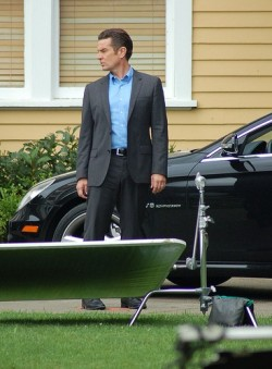 James on the set of Supernatural. See more photos here »