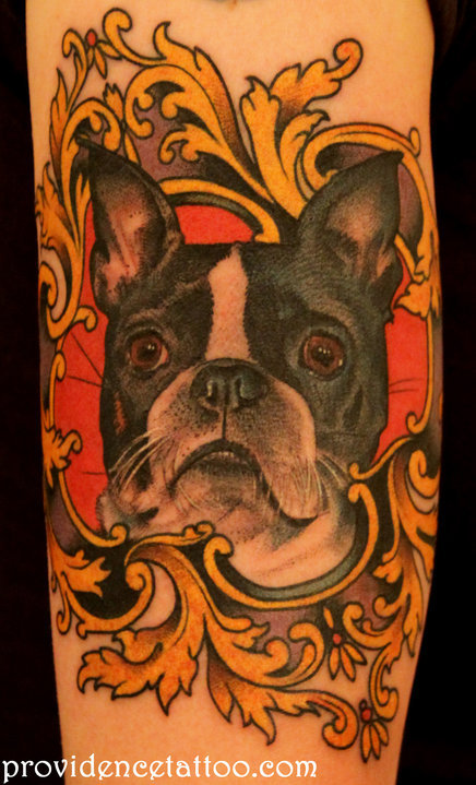 dog portrait tattoo that I did
