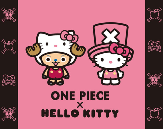 "albotas:  ONE PIECE x Hello Kitty While not as ""WTF!?"" inducing as the announcement of Hello Kitty x Street Fighter, we certainly didn't see this one coming. Sanrio and Toei have signed up to do crossovers on around 20 different licenses and create over 300 pieces of mash-up merch starting this November. I feel like this is a sign of some biblical end-of-days shit on the horizon. (via FreshnessMag)"