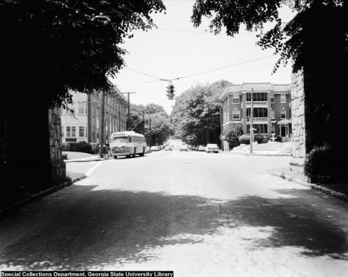 14th Street at Piedmont Avenue in 1961.  Midtown Atlanta.