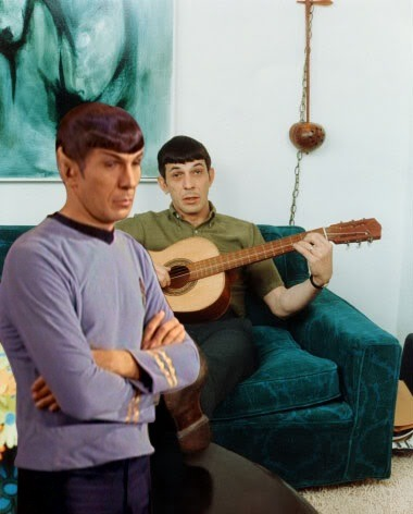 Spock is not impressed with your 60's decor and random guitar playing