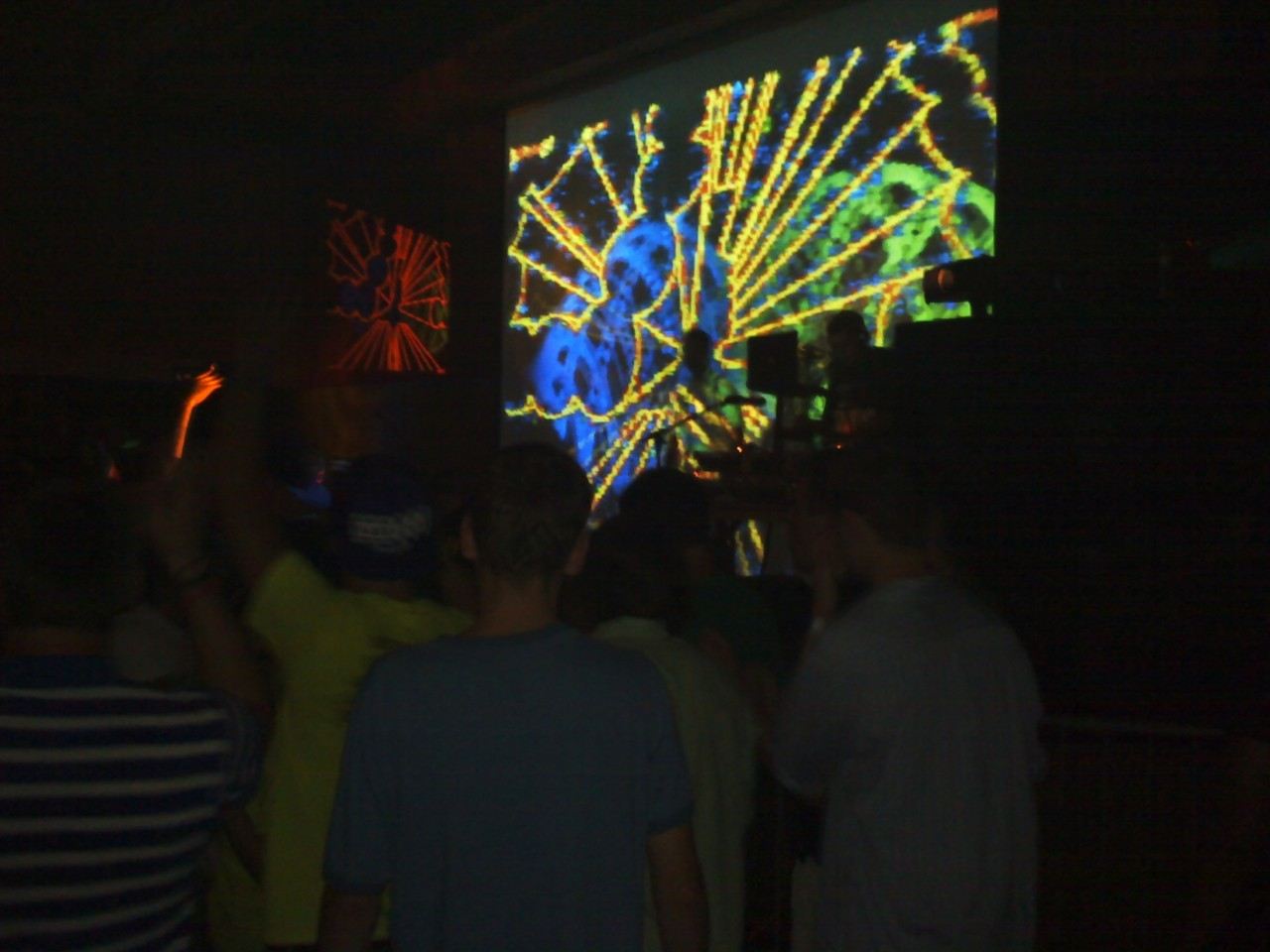 MASRAE killing it on the visuals at GMU! 9.3.2011