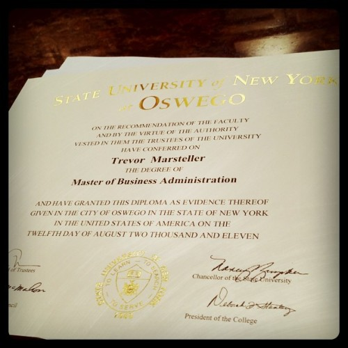 I have an MBA. This is weird.  (Taken with instagram)
