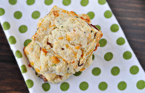 Bacon: We like it with biscuits. Bacon, Cheddar and Chive Biscuits – Cook Like a Champion