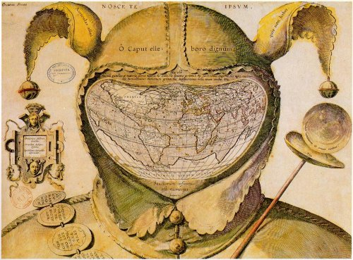 Obsessed with this Old World jester map.  Origin unknown to me, let me know… XxPJC