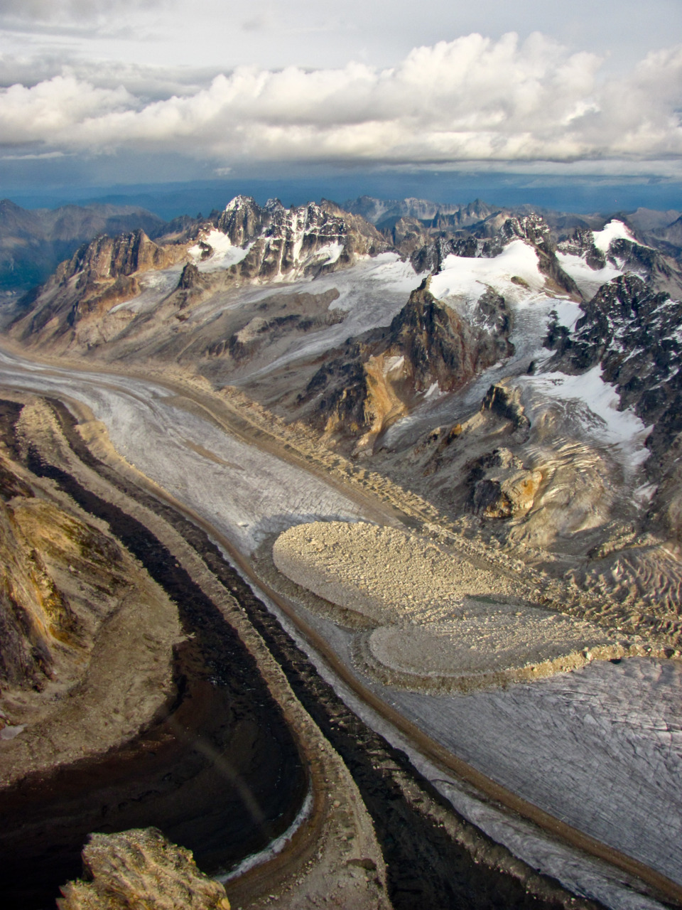 Sometimes..  When glaciers move, they make hearts.  I love flying, I love glaciers.
