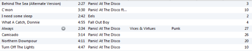 This is my current playlist, can you tell my mood yet?