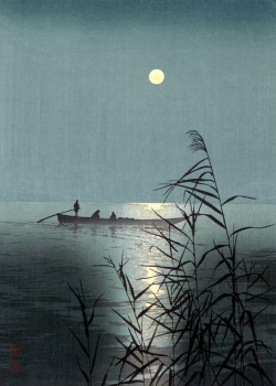 hresvelgr:  庄田耕峰 Shoda Koho, Moonlit Sea, c. 1920