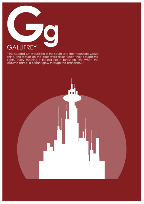 heckyesthings:  A-Z of Doctor Who: GALLIFREY  Not a quote, per se, but this is too nice not to share.