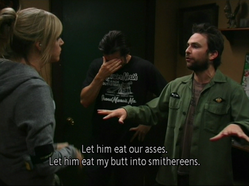I love that Mac does that at most things Charlie says.