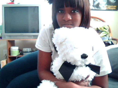 sleeping with my favorite teddy bear tonight.. <3