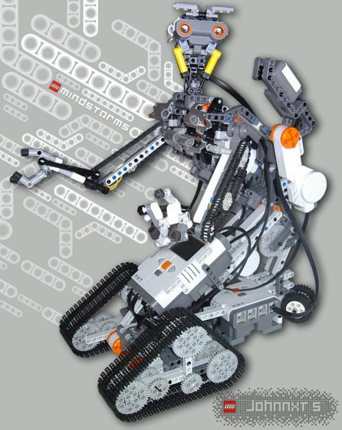 heyyoshimi:  Johnny 5 is lego!  No disassemble. NO DISASSEMBLE!