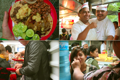 PHOTO OF THE DAY - Tacos mexicanos Chupa Cabras taco stand - Coyoacan, Mexico City Best. Tacos. Ever! 10 pesos a taco (< $1) =  culinary heaven served up by two lively señores.