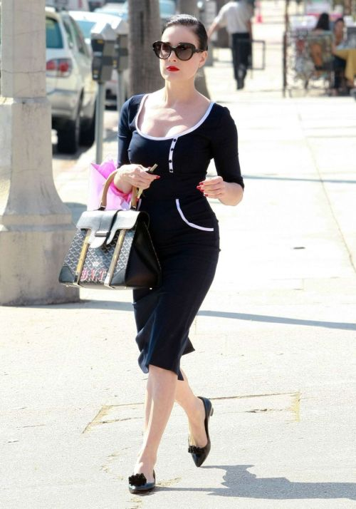 suicideblonde:  Dita von Teese out in Studio City yesterday So effortlessly chic