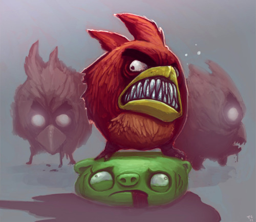 Very Angry Birds - by Trudi Castle  Blog | CGHUB | Twitter  (Via: justinrampage)