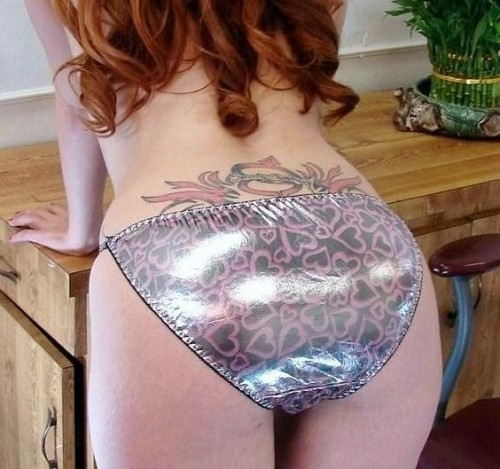 redhead with lower back tattoo !!