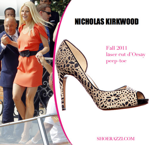 Gwyneth Paltrow in Nicholas Kirkwood