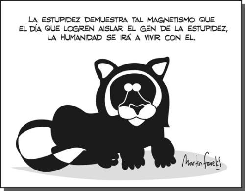 Martín Favelis y el gen de la estupidez, http://www.martinfavelis.com/