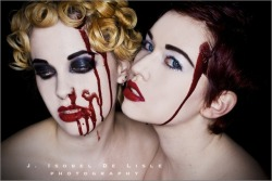 jisobeldelisle:  flowers on your grave - E & DeSalle / mua: Lyse / blood styling: me